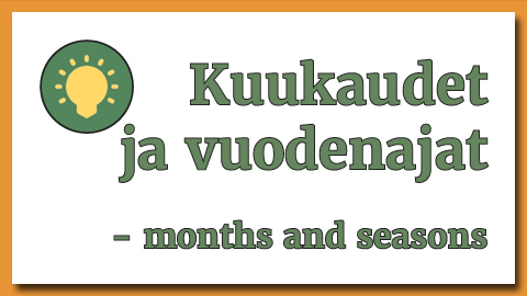 Months and seasons in Finnish