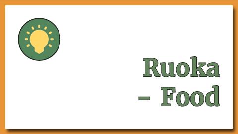 Ruoka - Food